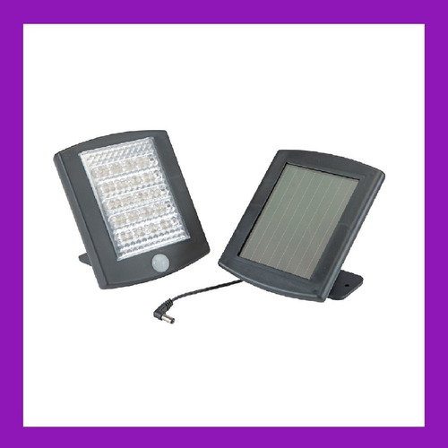 lampara y luz de seguridad  de emergencia solar de 36 led