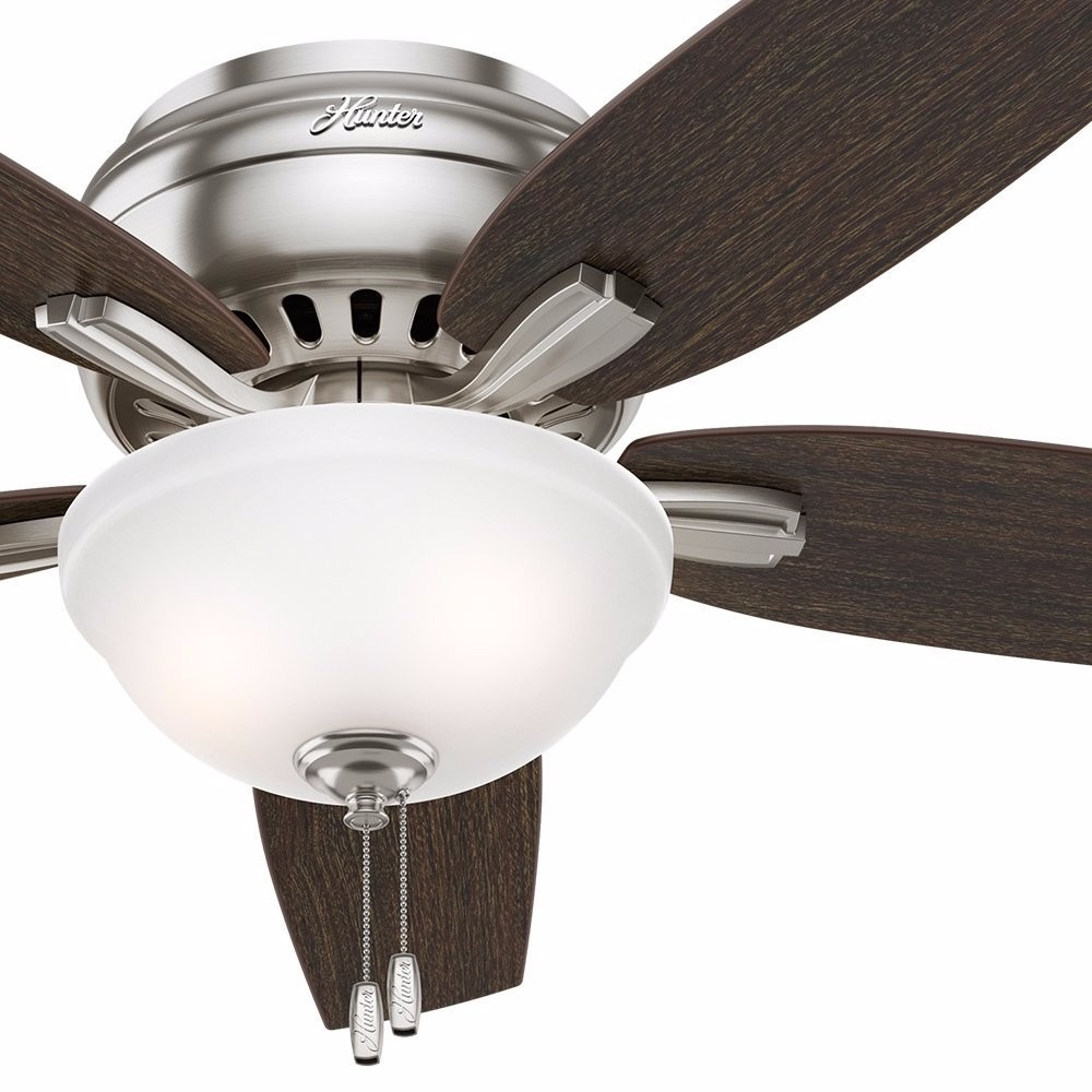 Lampara y ventilador de techo hunter fan 52 de niquel - Lamparas de techo ventilador ...