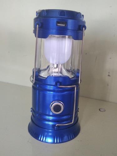 lámpara/linterna led recargable tipo camping solar usb6500k