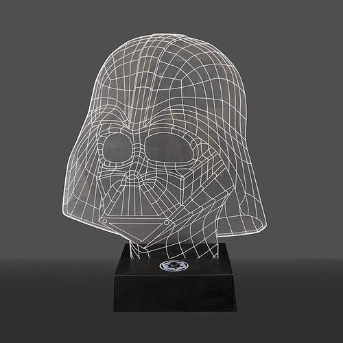 lámparas 3d holograma con luz star wars