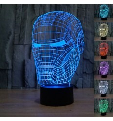 lamparas 3d led star wars batman iron man darth vader y mas