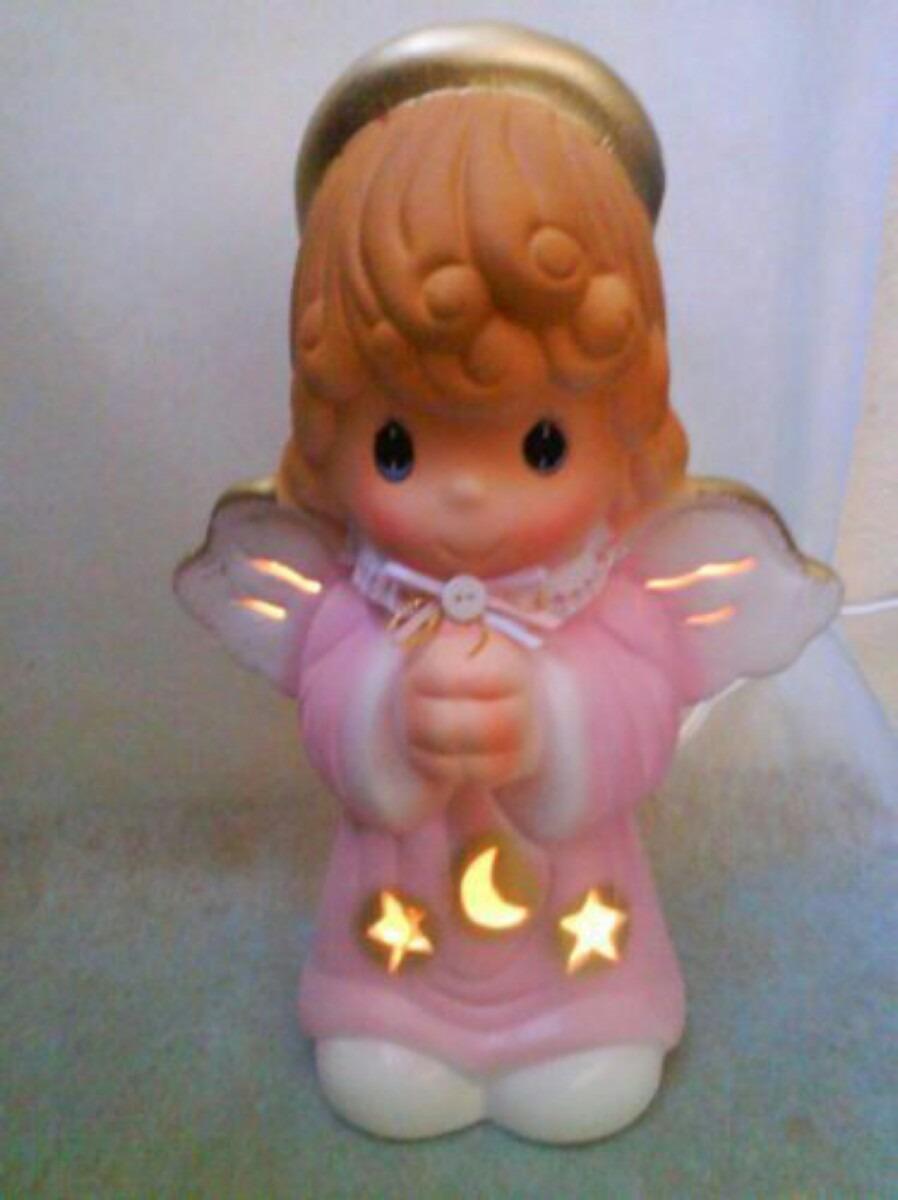 L mparas angel hechas cer mica recuerdos bautizo comuni n - Angelitos de yeso ...