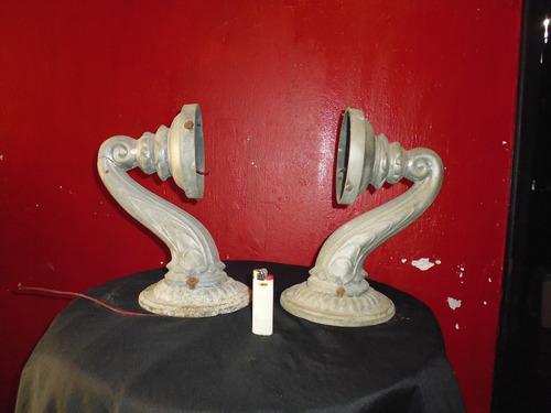 lamparas antiguas, estaño o simil