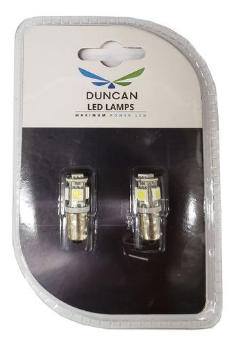 lamparas ba9s 12v 5 led smd5050 blanco blister x2