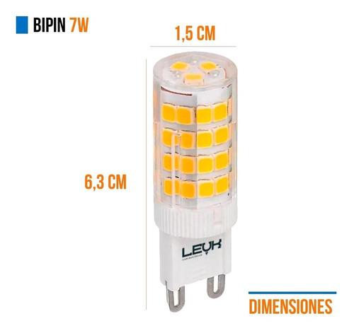 lamparas bipin led g9 220v 7w = 50w blanco calida fria