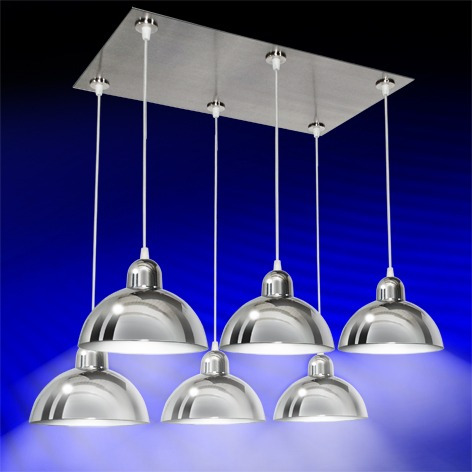 Lamparas colgantes 6 luces cromo para cocina comedor tvf en mercado libre - Lamparas de techo colgantes para comedor ...