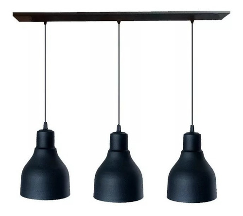 lamparas colgantes barral triple campana apto led