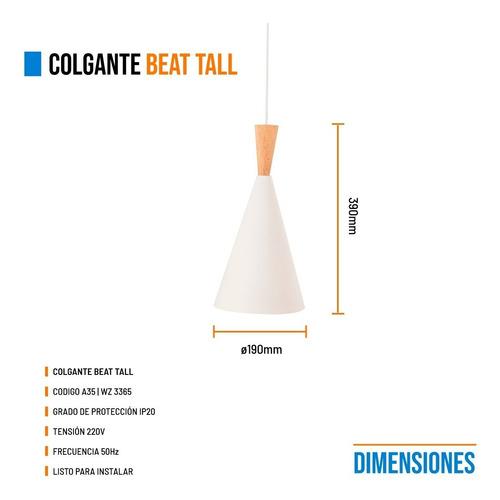 lamparas colgantes beat tall blanco cobre modernas plafon