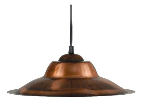 lamparas colgantes cobre chapa sombrero galponera vintage