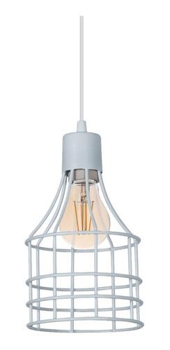 lamparas colgantes de alambre jaula industrial apto led 220v