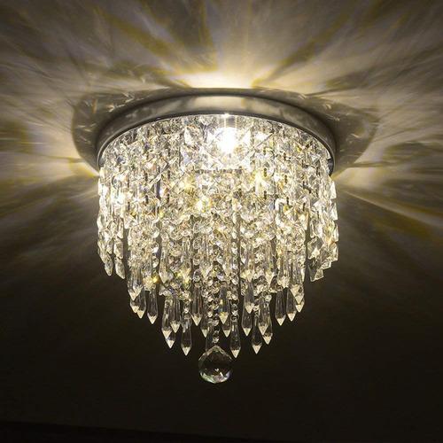 lámparas colgantes de techo de cristal candelabro
