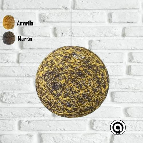 lamparas colgantes de techo modernas decorativas esfera hilo