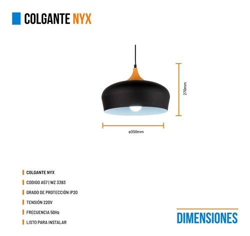 lamparas colgantes diseño nórdico nyx blanca negro madera