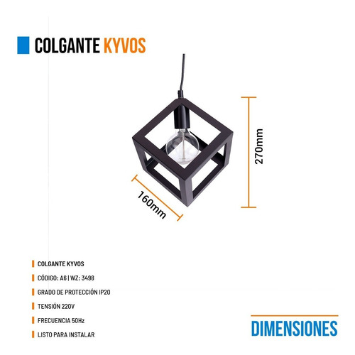 lamparas colgantes leuk cubo kyvos led living cube moderno