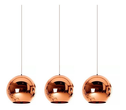 lámparas colgantes leuk deco triple cobre 3 luces tom dixon