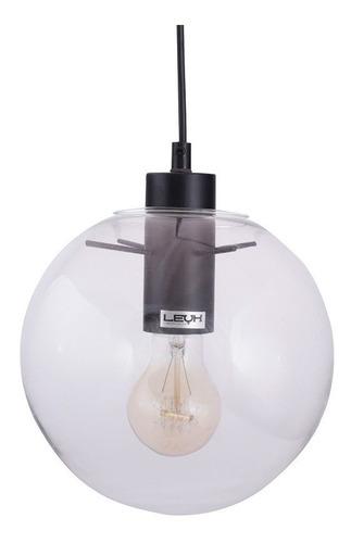 lamparas colgantes leuk jeno 1 e27 vintage esfera cristal