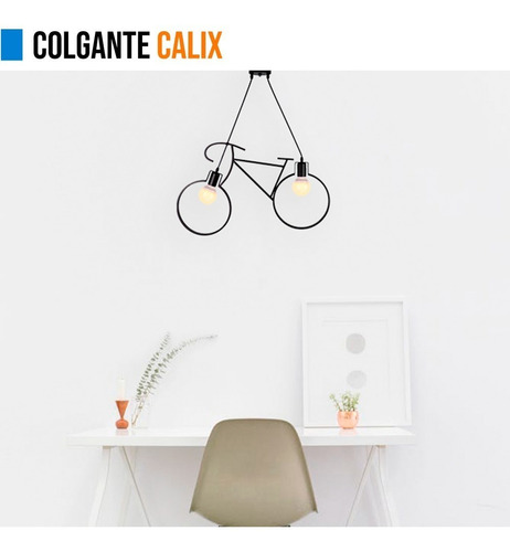 lamparas colgantes leuk techo bicicleta calix 2 luces deco
