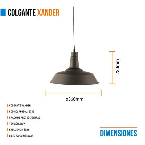 lamparas colgantes leuk xander industrial negro 1 luz e27