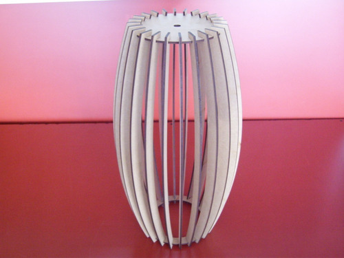 lámparas colgantes madera corte láser diseño moderno