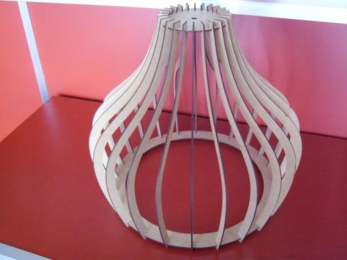 lámparas colgantes madera pantalla diseño moderno decoración