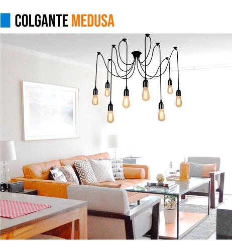 lamparas colgantes medusa original premium 8 luces moderno