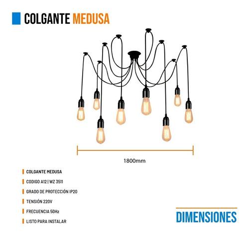 lamparas colgantes medusa original premiun 8 luces moderno