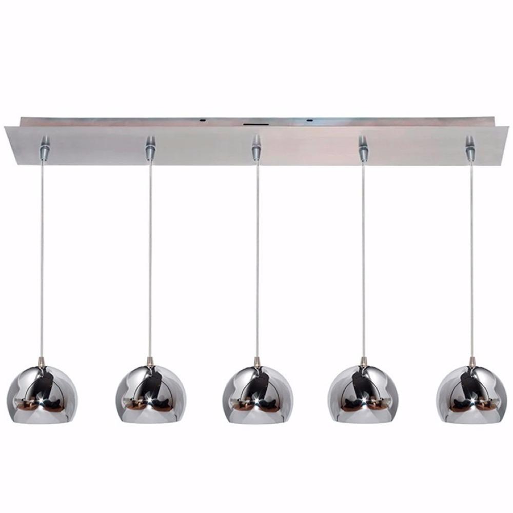 Lamparas Colgantes Modernas Cocina Led 5 Luces Cromada 220v ...