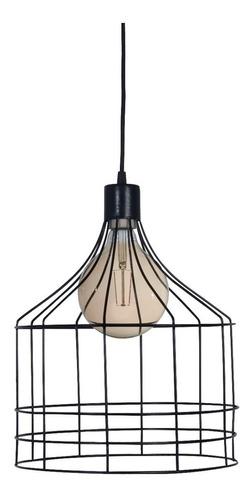 lamparas colgantes rustica jaula alambre estilo industrial