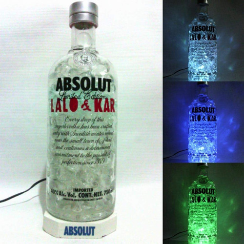 lamparas con botellas de absolut y mas