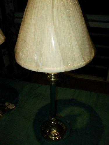 lamparas de bronce y laqueado verde nuevas, regalo.