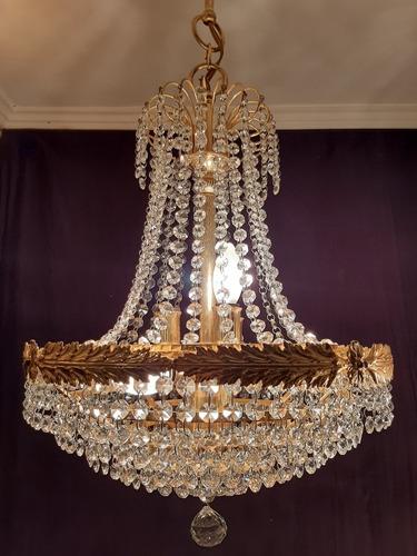 lamparas de cristal checo con baño de oro