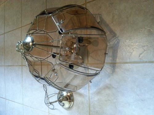 lamparas de cristal con bronce
