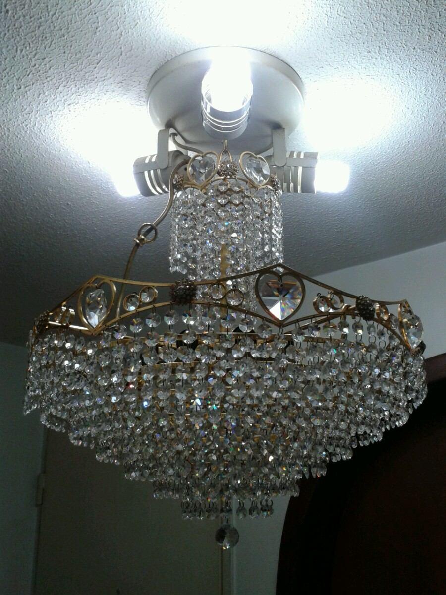 Lamparas de cristal swarovski con ba o de oro bs for Lamparas para banos precios