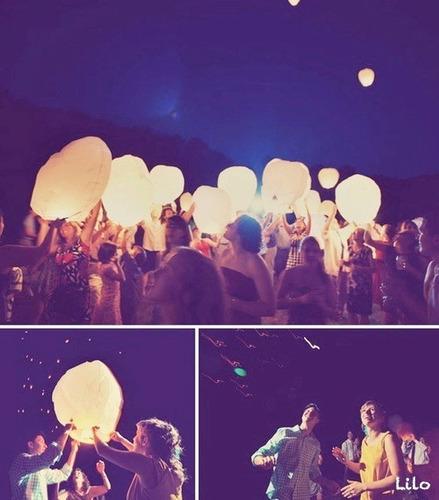 lámparas de luz - faroles voladores - globos. luminosos