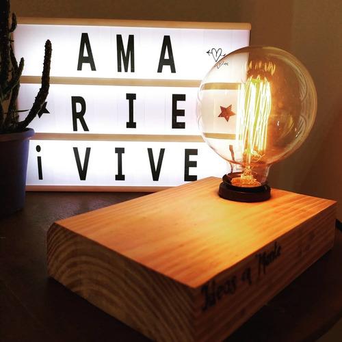 lámparas de madera sin foco