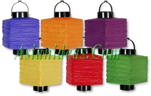 lamparas de papel  x 6 chinas ideal  fiestas, navidad, zen