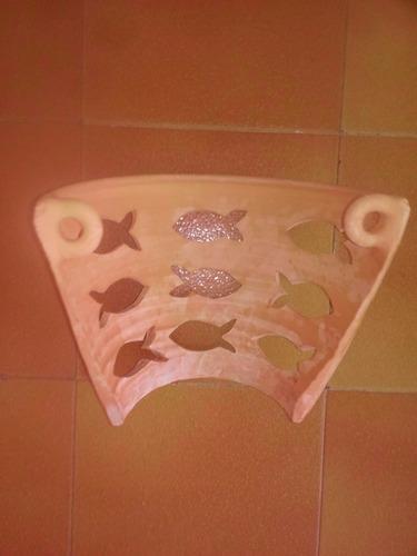 lamparas de pared de arcilla