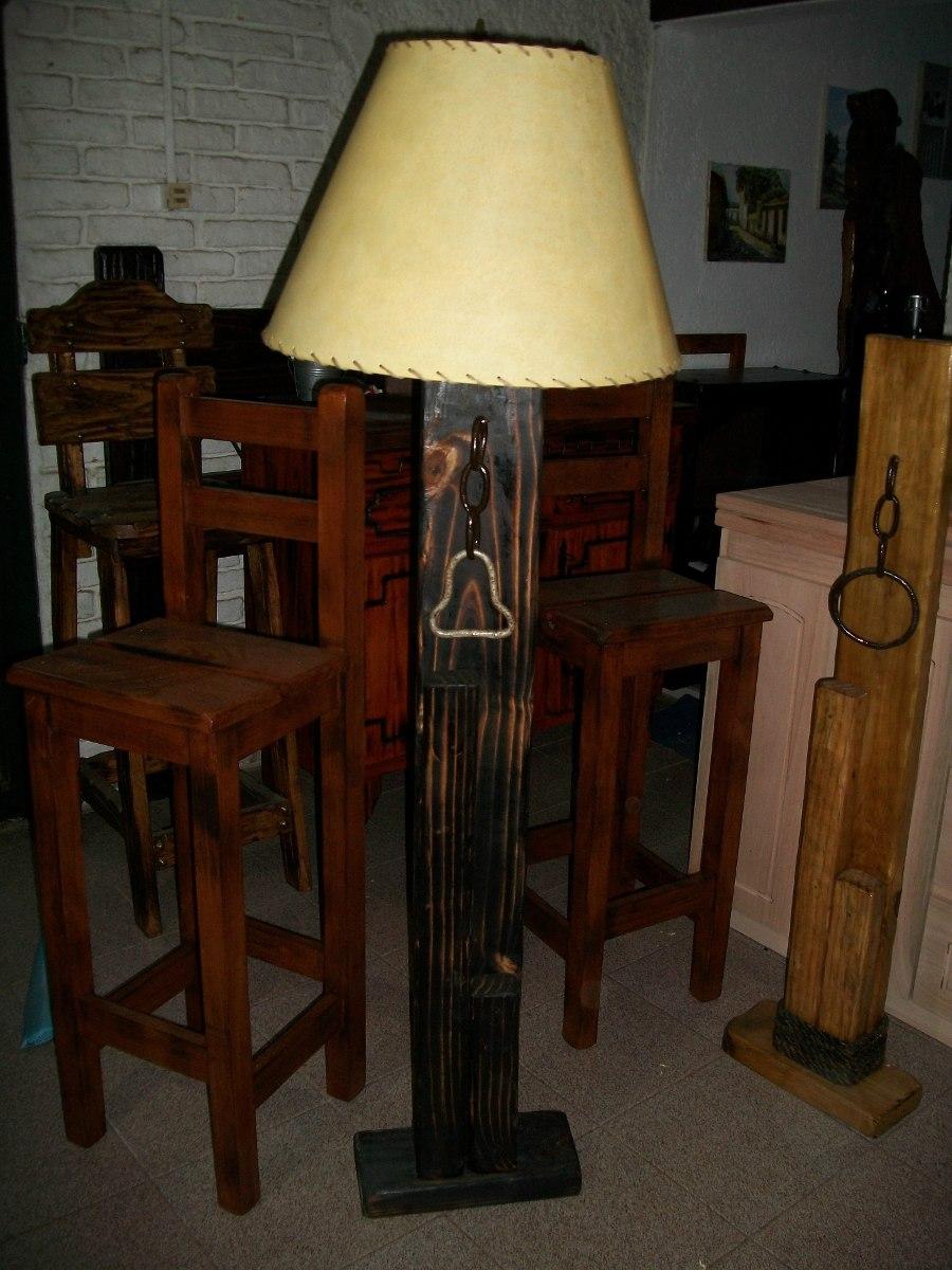 Lamparas de pie rusticas artesanales en madera - Lamparas de pie artesanales ...