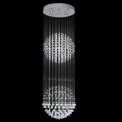 lamparas de techo colgantes araña 10 luces caireles cristal