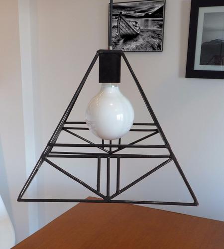 lamparas diamante de hierro estilo nordico/industrial