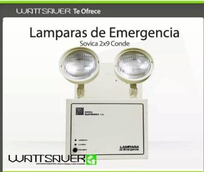 lamparas emergencia 2x9 conde sovica