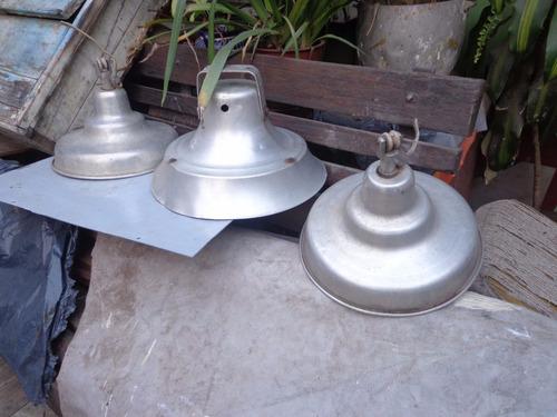 lamparas galponeras de alumino x3