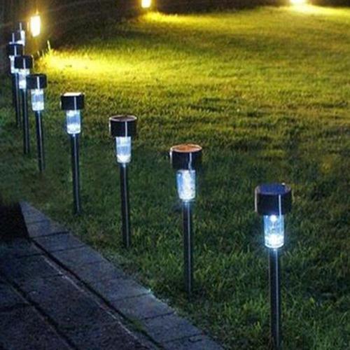 lamparas jardín decoración exterior led solar resiste agua
