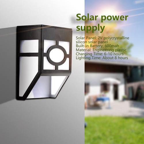 lamparas jardín led solar decoración exterior resiste agua