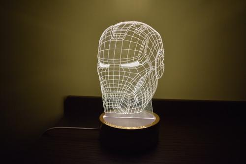 lamparas led 3d exclusivos modelos luz blanca - 7 colores