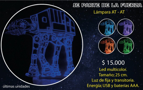 lamparas led 3d  star wars..