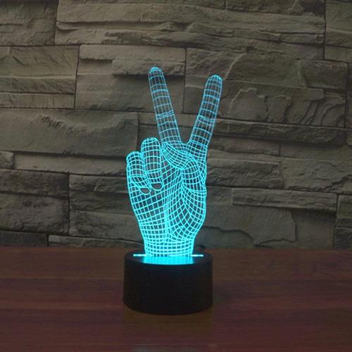 lamparas led 3d varias figuras modelos y colores oferta