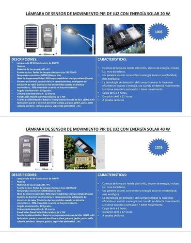 lamparas led funcionamiento con panel solar pdto importado