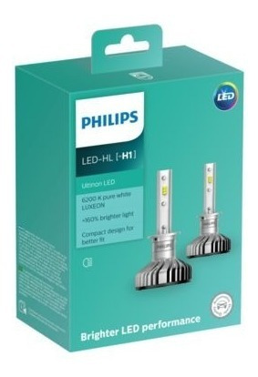 lamparas led h1 12v philips ultinon pack x2