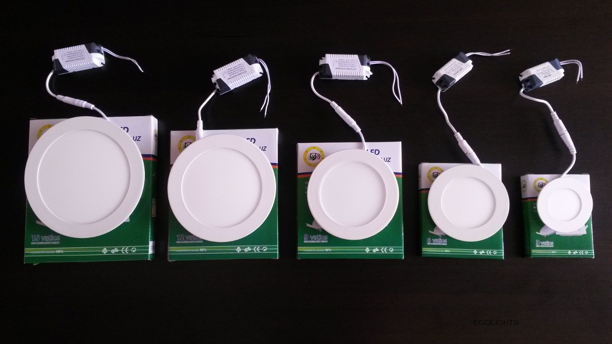Lamparas led panel tipo spot extraplanas empotrar techo - Lamparas de led para techo ...